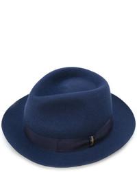 Sombrero de Lana Azul Marino de Borsalino