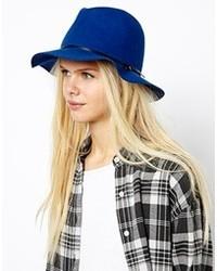 Sombrero de lana azul de Esprit