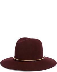 Sombrero de lana burdeos de Janessa Leone