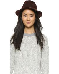 Sombrero de lana burdeos de Rag & Bone