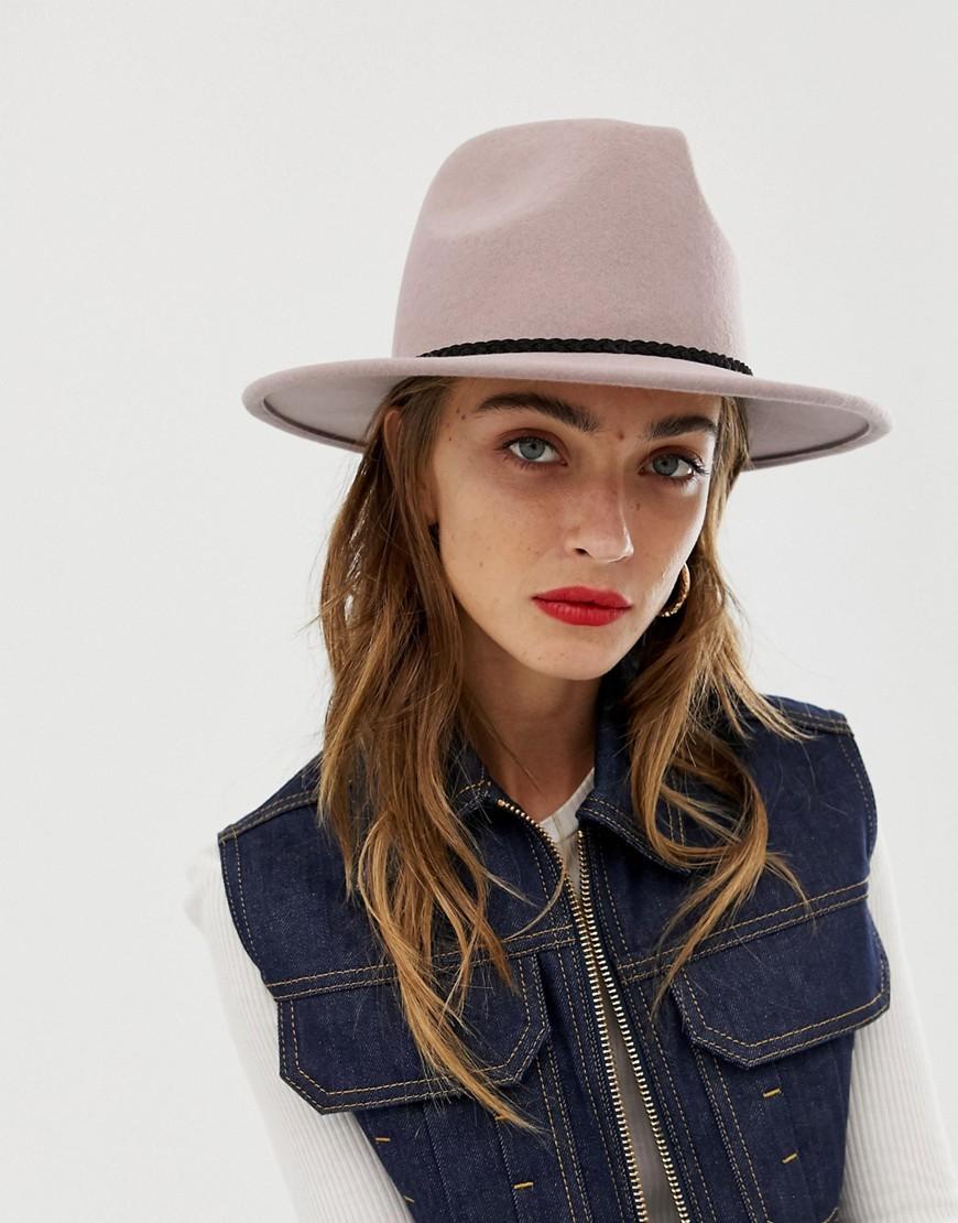 Sombrero de lana en beige de ASOS DESIGN