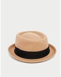 Sombrero de lana en beige de Asos