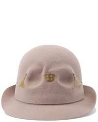 Sombrero de lana en beige