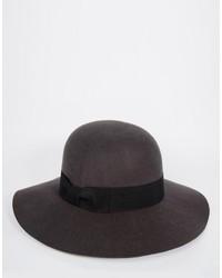 Sombrero de lana en gris oscuro de Asos