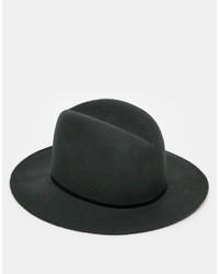 Sombrero de lana en gris oscuro de Catarzi