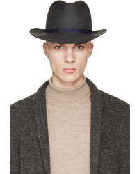 Sombrero de lana en gris oscuro de Robert Geller