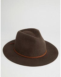 Sombrero de lana en marrón oscuro de Brixton
