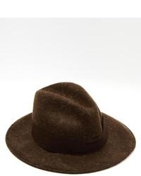 Sombrero de lana en marrón oscuro de Catarzi