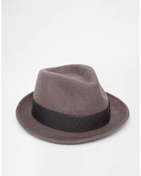 Sombrero de lana gris de Asos