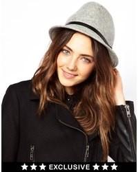 Sombrero de lana gris de Catarzi