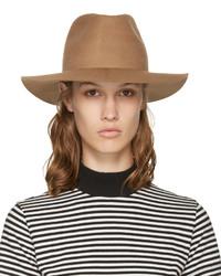 Sombrero de lana marrón claro de Harmony