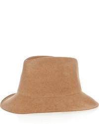 Sombrero de lana marrón claro de Stella McCartney