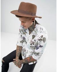 Sombrero de lana marrón de ASOS DESIGN