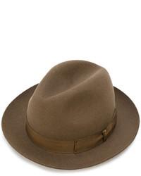 Sombrero de lana marrón de Borsalino
