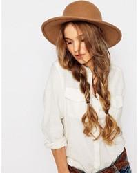 Sombrero de lana marrón de Brixton