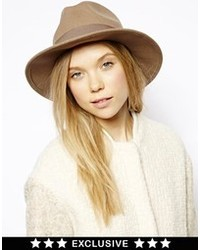 Sombrero de lana marrón de Catarzi