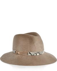 Sombrero de lana marrón de Eugenia Kim