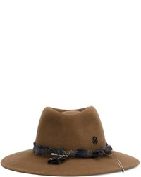 Sombrero de lana marrón de Maison Michel