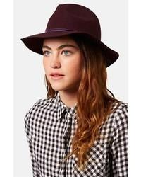 Sombrero de lana morado oscuro