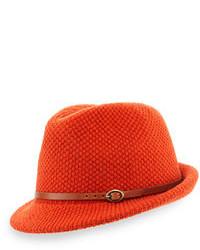 Sombrero de lana naranja