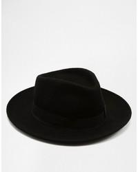 Sombrero de lana negro de Catarzi