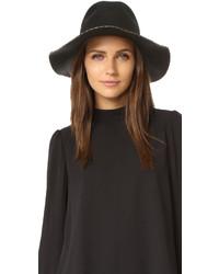 Sombrero de lana negro de Eugenia Kim