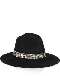 Sombrero de Lana Negro de Karl Lagerfeld