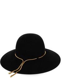 Sombrero de lana negro de Lanvin