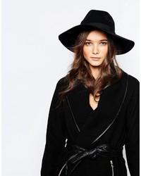 Sombrero de lana negro de Pieces