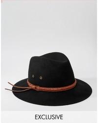 Sombrero de lana negro de Reclaimed Vintage