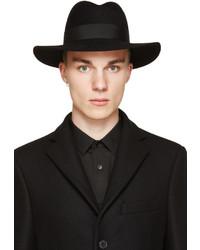 Sombrero de lana negro de Saint Laurent