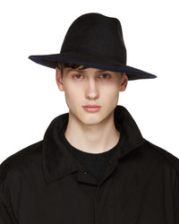 Sombrero de lana negro de Yohji Yamamoto