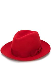 Sombrero de lana rojo de Borsalino