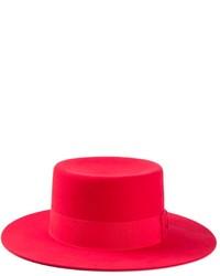 Sombrero de lana rojo de Saint Laurent