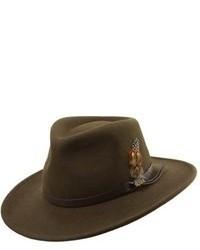 Sombrero de lana verde oliva