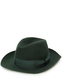 Sombrero de lana verde oscuro de Borsalino
