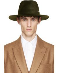 Sombrero de lana verde oscuro