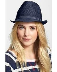 Sombrero de paja azul marino