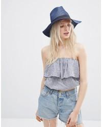 Sombrero de paja azul marino de Asos