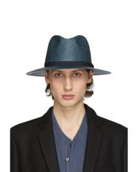 Sombrero de paja azul marino de Giorgio Armani