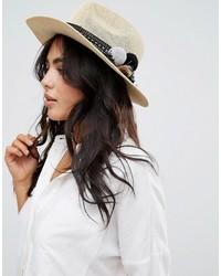 Sombrero de Paja Beige de Asos