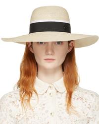 Sombrero de Paja Beige de Maison Michel