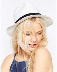 Sombrero de paja blanco de Asos
