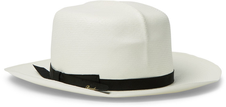 Sombrero de paja blanco de Borsalino