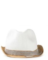 Sombrero de paja blanco de Brunello Cucinelli