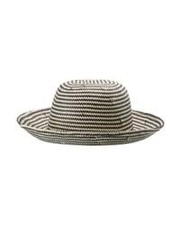 Sombrero de paja de rayas horizontales negro de Opus