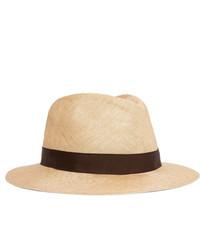 Sombrero de paja en beige de Anderson & Sheppard