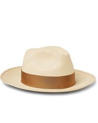 Sombrero de paja en beige de Borsalino