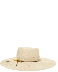 Sombrero de paja en beige de Eugenia Kim