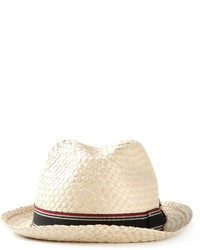 Sombrero de paja en beige de Giorgio Armani